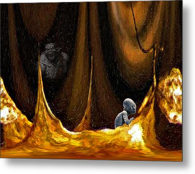 Gollum Shows The Way Metal Print by Steve Harrington