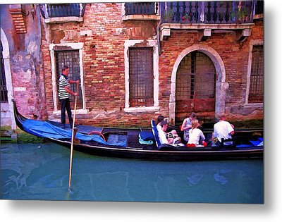 Metal Print featuring the photograph Gondola 4 by Allen Beatty