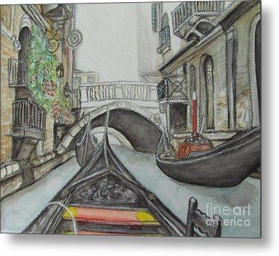 Gondola Venice Italy Metal Print by Malinda  Prudhomme
