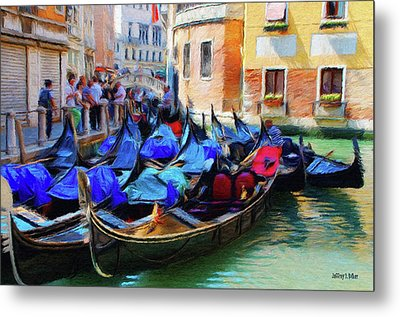 Gondolas Metal Print by Jeff Kolker