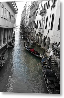 Metal Print featuring the photograph Gondolier by Laurel Best