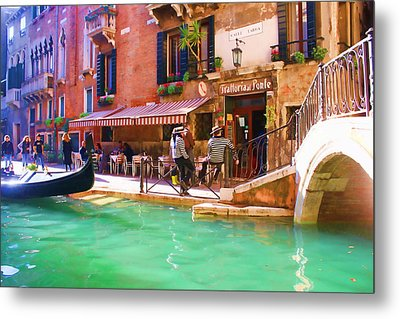 Gondoliers On Break Metal Print