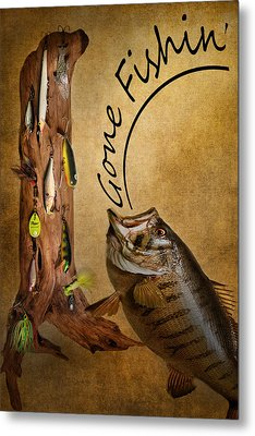 Gone Fishin Metal Print