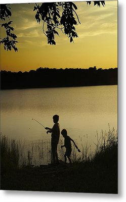 Gone Fishin' Metal Print by Mary Ely