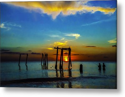 Metal Print featuring the photograph Gone Fishin by Randy Sylvia