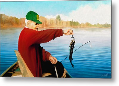 Gone Fishing Metal Print by Dale Jackson