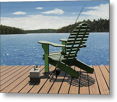 Gone Fishing Metal Print by Kenneth M  Kirsch