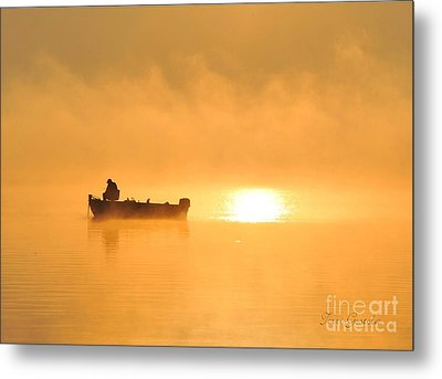 Metal Print featuring the photograph Gone Fishing by Terri Gostola