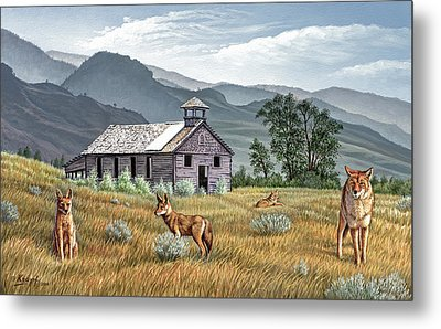 Gone To The Dogs Metal Print