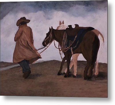 Good Day For A Walk Metal Print by Christy Saunders Church