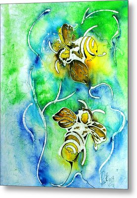 Good Day To Be A Bee Metal Print by Pat Purdy