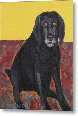 Metal Print featuring the painting Good Dog Series 2 by Jennifer Boswell