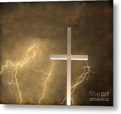 Good Friday In Sepia Texture Metal Print by James BO  Insogna