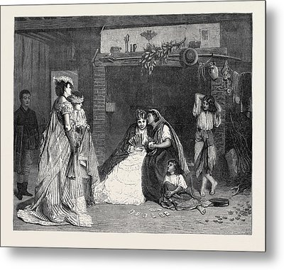 Good Luck, In The International Exhibition 1871 Metal Print by Baugniet, Charles (1814-86), Belgian