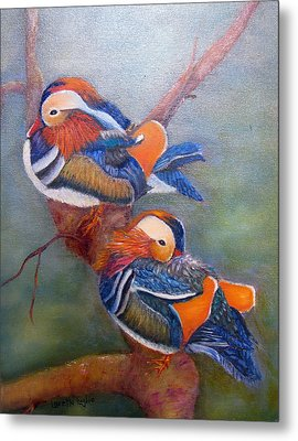 Good Luck Mandarins Metal Print