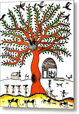 Good Morning Chirp Metal Print by Anjali Vaidya