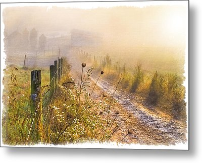 Good Morning Farm Metal Print by Debra and Dave Vanderlaan