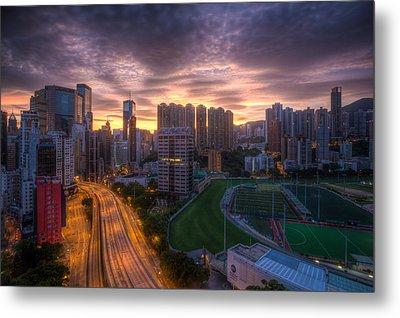 Good Morning Hong Kong Metal Print by Mike Lee