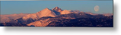 Metal Print featuring the photograph Good Morning Mr. Moon II by Silke Brubaker
