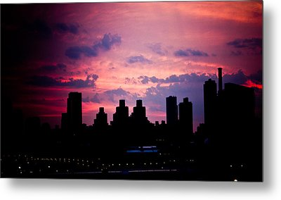 Good Morning New York Metal Print by Sara Frank