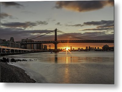 Metal Print featuring the photograph Good Morning Nyc  by Anthony Fields