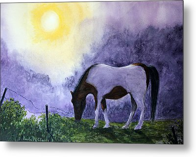 Good Morning Patches Metal Print by Enola McClincey