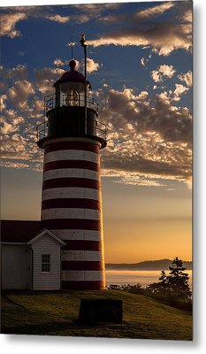 Good Morning West Quoddy Head Lighthouse Metal Print by Marty Saccone
