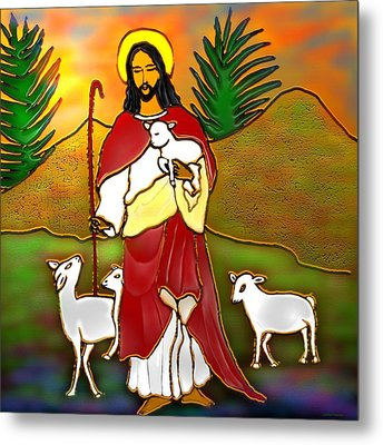 Good Shepherd Metal Print by Latha Gokuldas Panicker