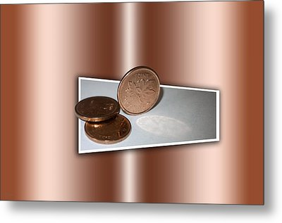 Metal Print featuring the photograph Goodbye Canadian Penny by Pennie  McCracken