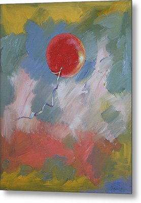 Goodbye Red Balloon Metal Print