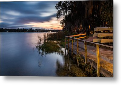 Goodnight Canoes Metal Print by Clay Townsend