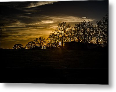 Goodnight Ranch Metal Print by Kelly Kitchens