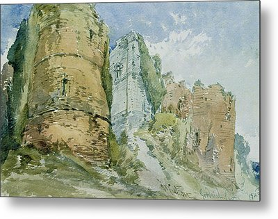 Goodrich Castle Metal Print by William Callow