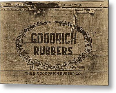 Goodrich Rubbers Boot Box Metal Print by Tom Mc Nemar