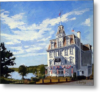 Goodspeed Opera House East Haddam Connecticut Metal Print by Christine Hopkins
