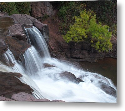 Metal Print featuring the photograph Gooseberry Falls In Slow Motion by James Peterson