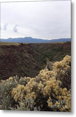 Gorge In Taos Metal Print