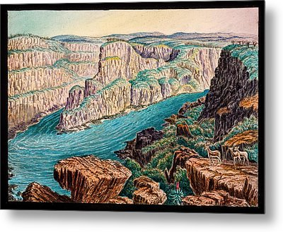Gorges Below Victoria Falls Metal Print by Gustoimages/science Photo Libbrary
