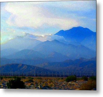 Gorgonio Pass And Mt. San Gorgonio Metal Print