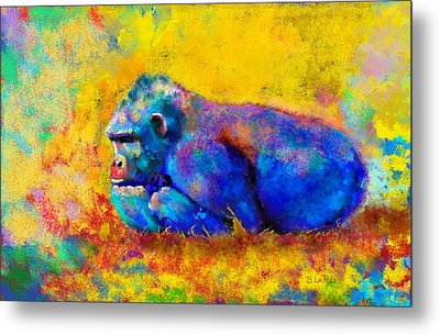 Metal Print featuring the painting Gorilla by Sean McDunn