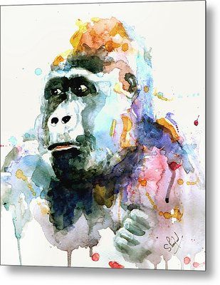 Metal Print featuring the painting Gorrilla by Steven Ponsford