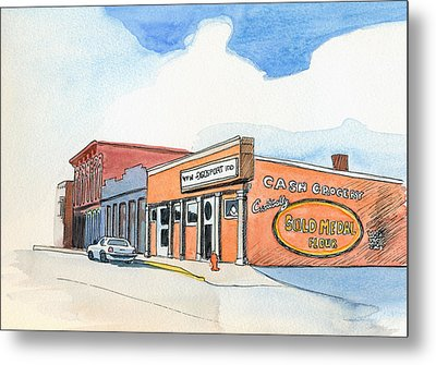 Metal Print featuring the painting Gosport Indiana 1 by Katherine Miller