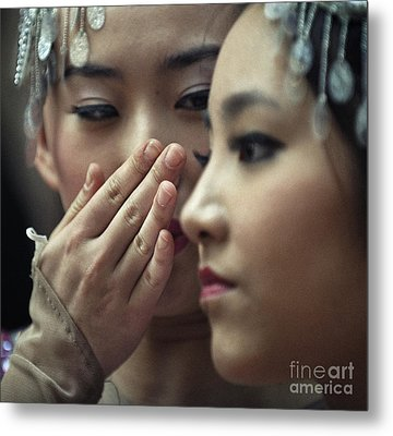Metal Print featuring the photograph Gossip by Michel Verhoef
