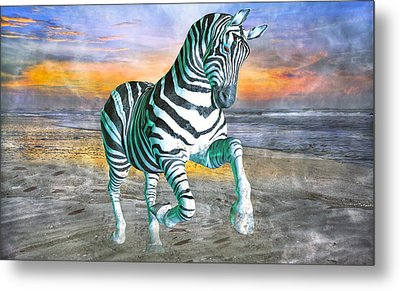 Got My Stripes Metal Print by Betsy Knapp