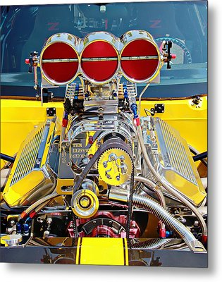 Metal Print featuring the photograph 1000 Hp Pro Street Z28 by Aaron Berg