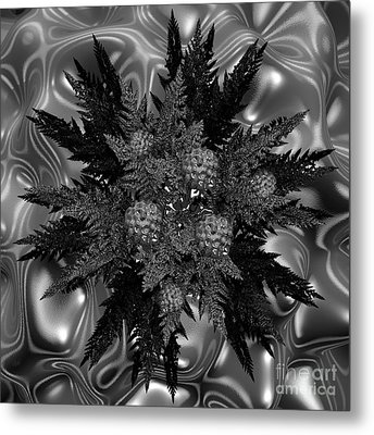 Goth Funeral Wreath Metal Print by First Star Art