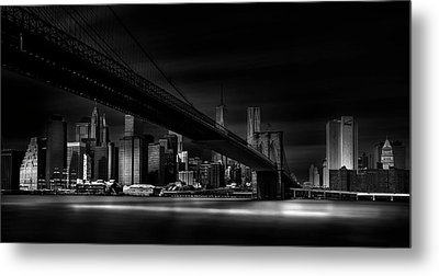 Gotham City. Metal Print by Peter Futo