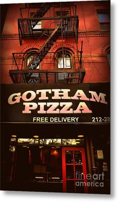 Gotham Pizza Metal Print by Miriam Danar