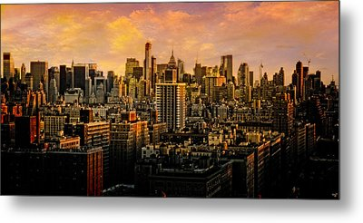 Metal Print featuring the photograph Gotham Sunset by Chris Lord