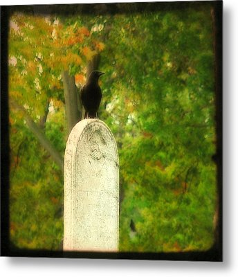 Gothic Autumn Metal Print by Gothicrow Images